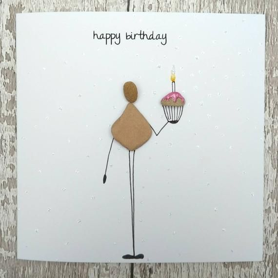 Birthday Card Card For Her Pebble Card Cute Card Quirky Card Unusual Card Funny Card Friend Card Baking Lover Card Mum Wife Sister Cards Cute Cards Birthday Cards