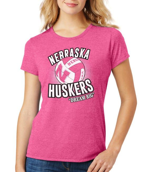 Nebraska Huskers Tee Husker Volleyball Dream Big Nebraska Huskers Shirt Cornhuskers Tee Nebraska Cornhuskers Tshirt Boutique Husker Apparel Cute Volleyball Shirts Women Nebraska