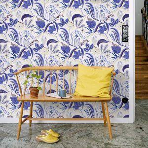wallpaper Särö blue, design Joy Zandén