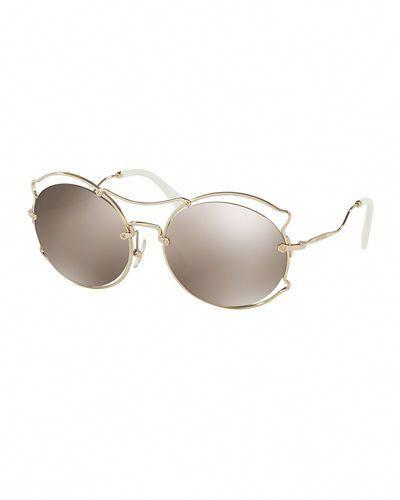 e362af11a D2H06 Miu Miu Waved Mirrored Open-Inset Sunglasses #MiuMiu | Miu Miu ...