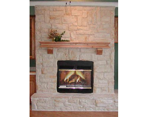 austin stone fireplace | Full Austin Stone Fireplace with