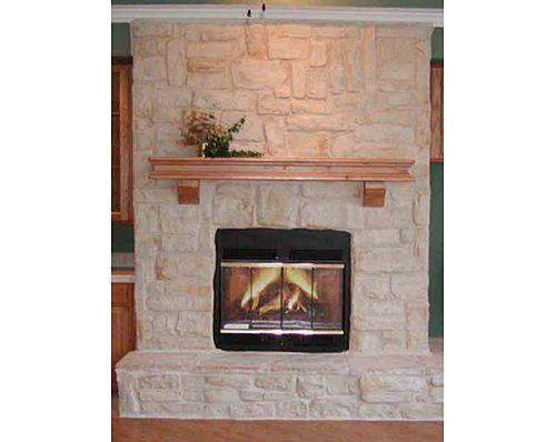 austin stone fireplace | Full Austin Stone Fireplace with ...