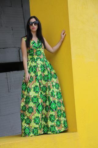 Rosetta African Maxi Dress