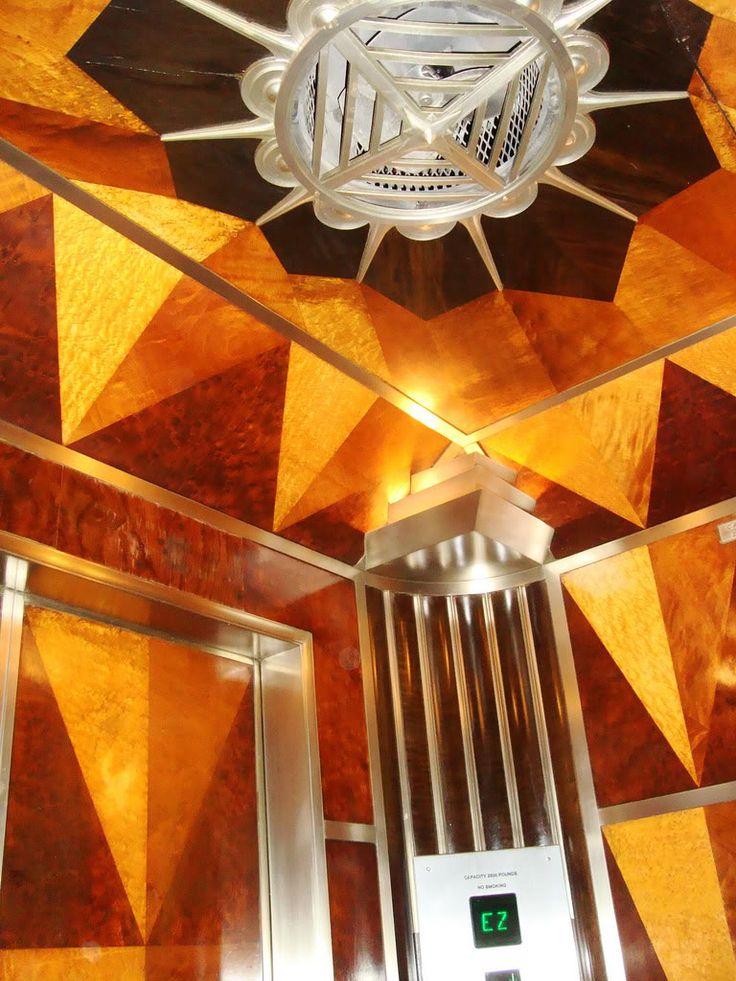 Inside the elevator, Chrysler Building, New York