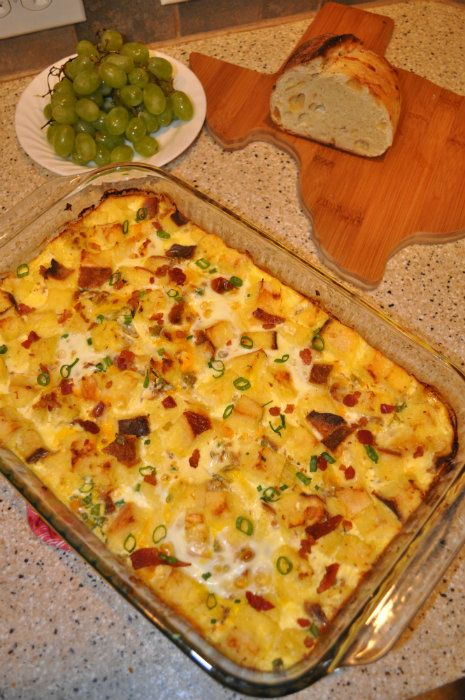 Bacon and Egg Casserole--Easy and can be made ahead of time. AD