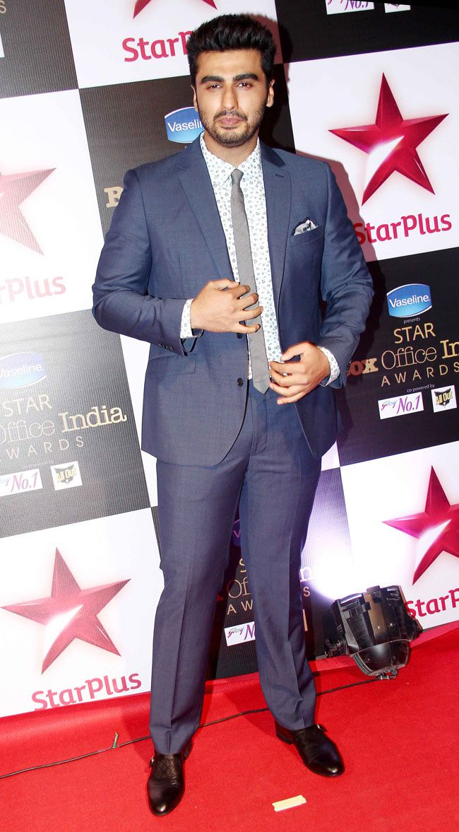 Arjun Kapoor at STAR Box Office Awards. #Bollywood #Fashion #Style #Handsome