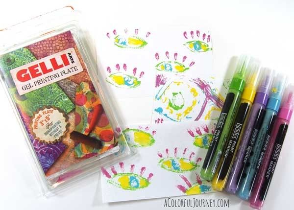 Video using Liquitex Paint Markers for Gelli Printing