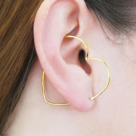 Gouden driehoek oor klimmer driehoek oorbellen Edgy