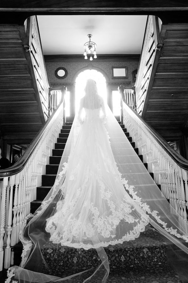 hard to believe this is the same staircase that the guys raced up in Dumb & Dumber. Gorgeous veil pic!   The Stanley hotel in Estes Park, Colorado.  www.VisitEstesPark.com