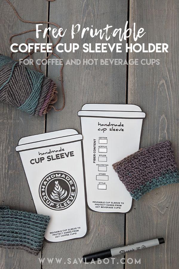 Printable Cup Sleeve Holder Printable Cups Coffee Cup Sleeves Cup Sleeve