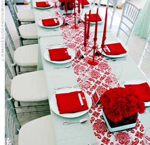 This was my baby shower. The red and teal rocked my world