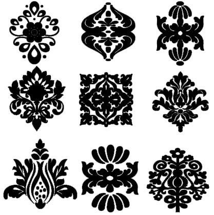 Damask Decor Decals by CountryCraftandVinyl on Etsy, $4.50