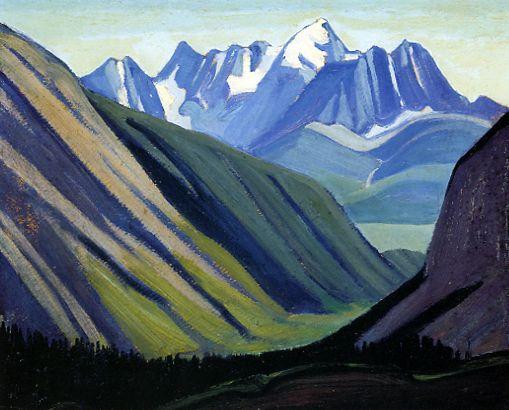 Lawren Harris, Above Emerald Lake, c.1924. Oil. 11 x 14 in.
