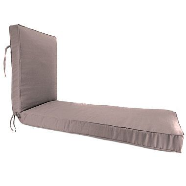 Sunbrella 80 inch x 23 inch chaise lounge cushion in for Bullnose chaise outdoor cushion