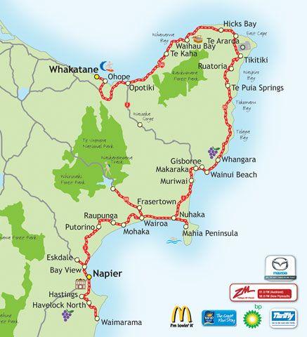 East Coast North Island Nz Map