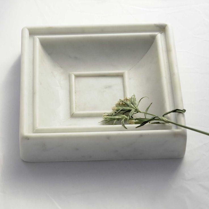 """Refined Soap dish  """"Bernini"""" in white Carrara marble by I Love Tizui Design."""