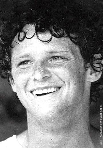 Terry Fox - looks any carefree kid, but was an inspiration to us all of hope, determination and vision.