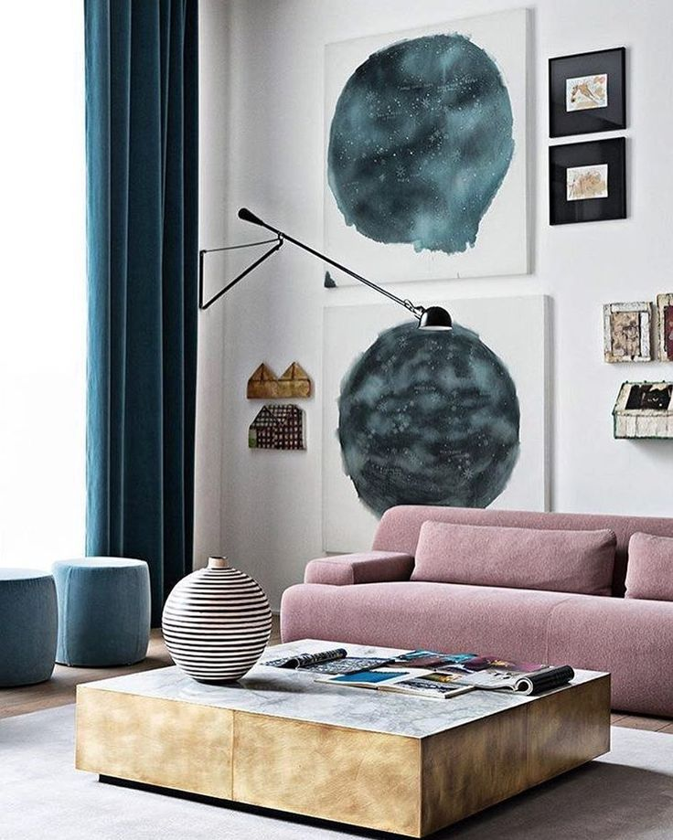 ultramodernlife Teal infatuation at the moment. Coffee table & couch are both amazing. via @jroman1964's wonderful feed