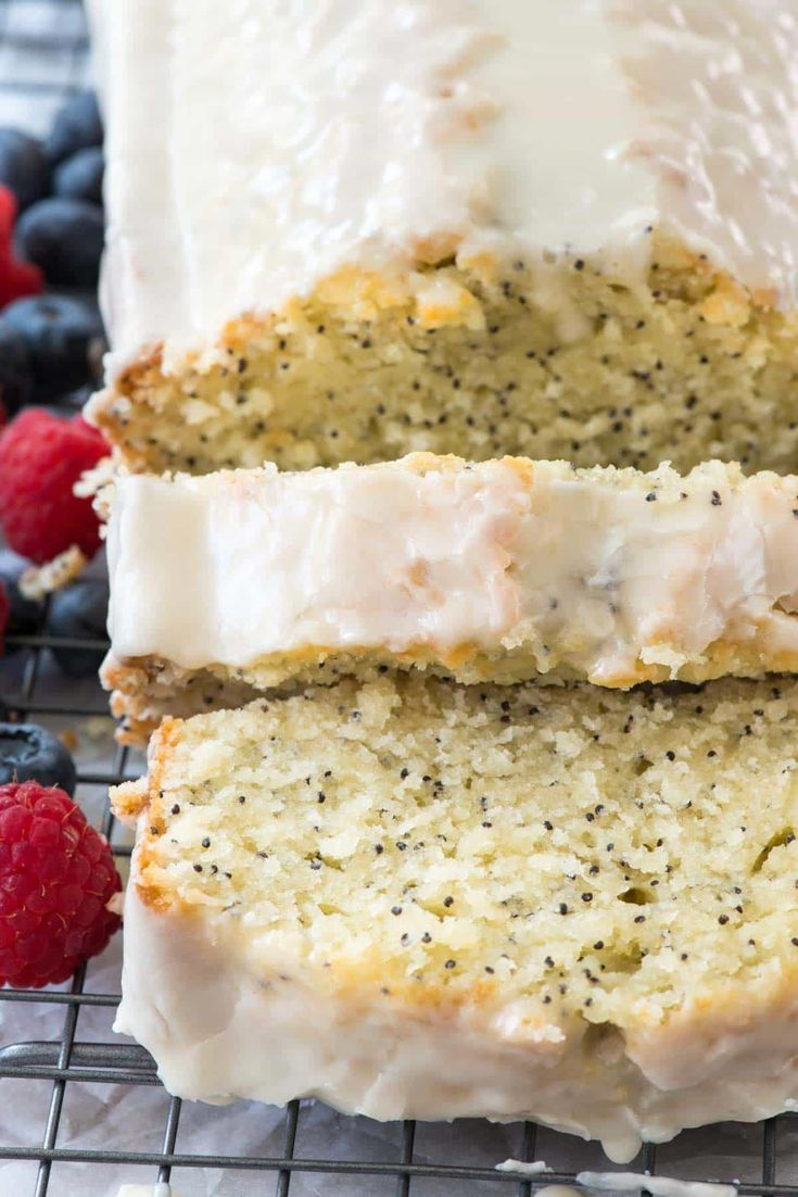 Almond poppyseed loaf cake is an easy pound cake recipe