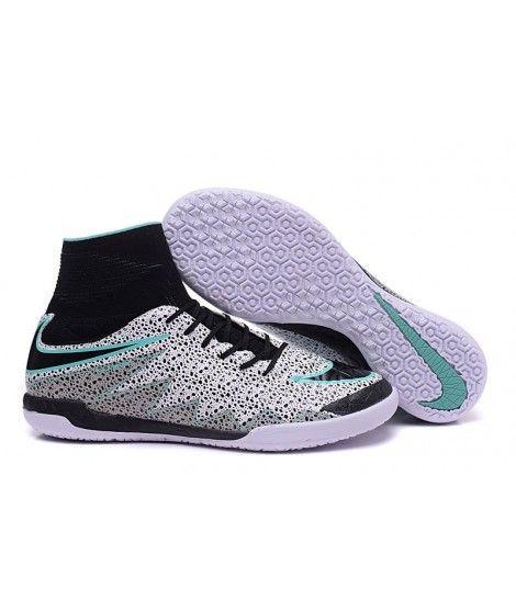 new concept dc06c b17a2 Nike Hypervenom X Proximo Safari blanco negro verde Glow IC Zapatillas  futbol sala botas de fútbol