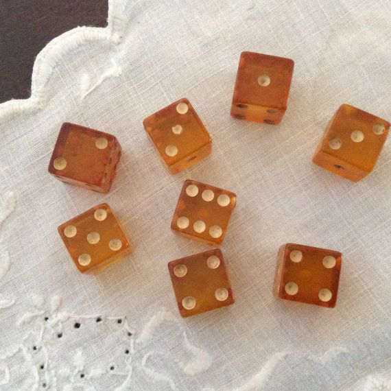 vintage bakelite amber pink game gambling small by bcreative64