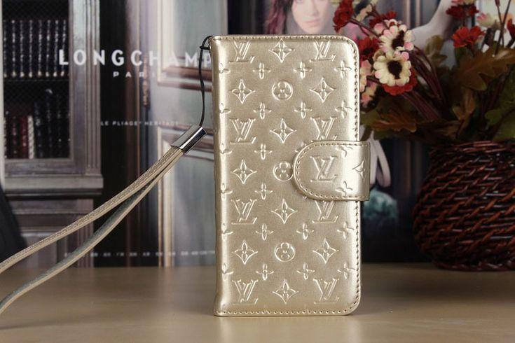 LV Samsung Galxy S7 Edge Covers Folio Gold Sleeve Coque Fundas Capa Para