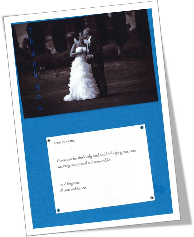 'Dear Annette,Thank you for the lovely card and for helping make our wedding day special and memorable. Shaun and Renee.' — at Kingsbrook Estate, Currency Creek.2014