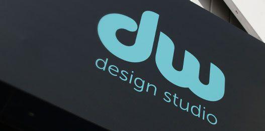 DW Design studio signage