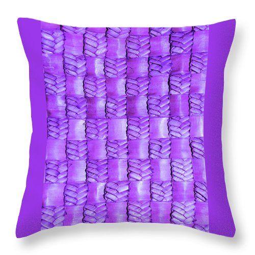 Weaving Throw Pillow featuring the photograph Weaving Flax - Lilac Haze by Wairua o te Moana