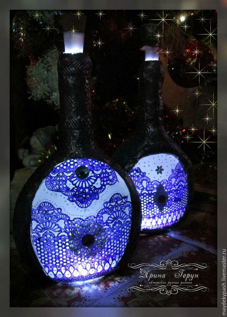 Купить Бутылка для Крещенской воды  - светильник - новогодний подарок, новогодний сувенир, новогодний декор