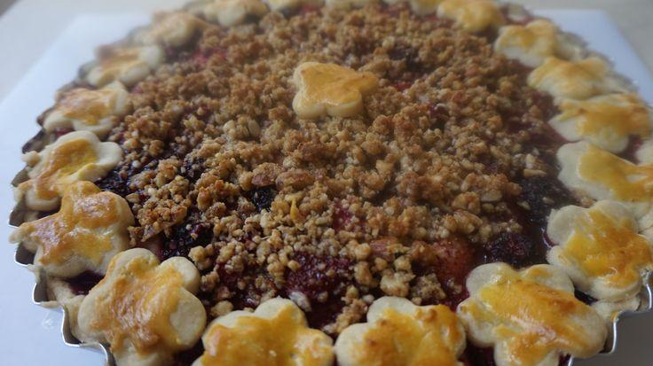 Torta de Frutas Vermelhas pronta