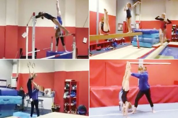 UK gymnastics club perform jaw-dropping Mannequin Challenge and hold incredible poses for viral video #gymnastics #perform #dropping…