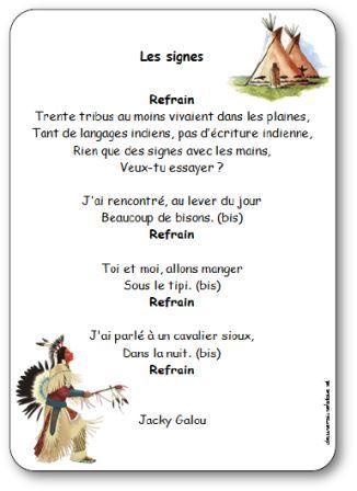 Paroles de la chanson Les signes: Trente tribus au moins vivaient dans les plaines, Tant de langages indiens, pas d'écriture indienne, Rien que des signes..
