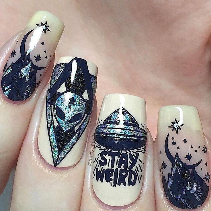 """Stay weird nails using @bundlemonster's """"BM-XL…"""