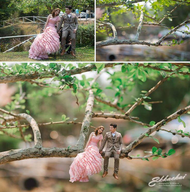 Ekkachai Saelow é um fotógrafo de casamento tailandês que não acredita apenas em capturar os pequenos detalhes de seus retratados - na verdade, ele transforma seus retratados nos pequenos detalhes!