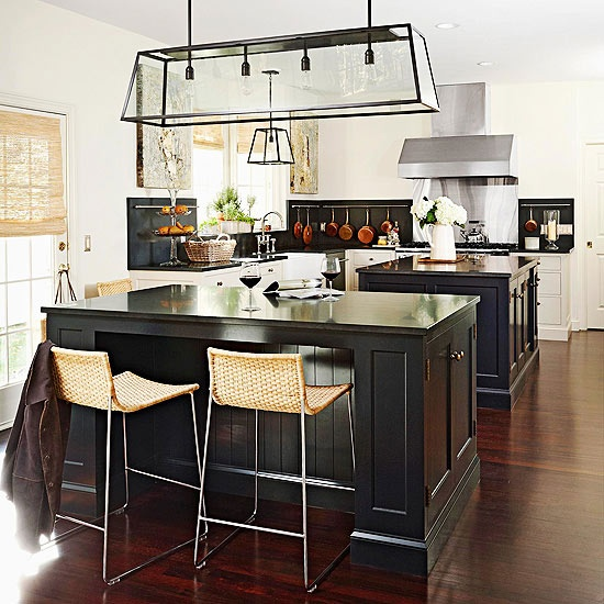 Lights, Kitchens And Black