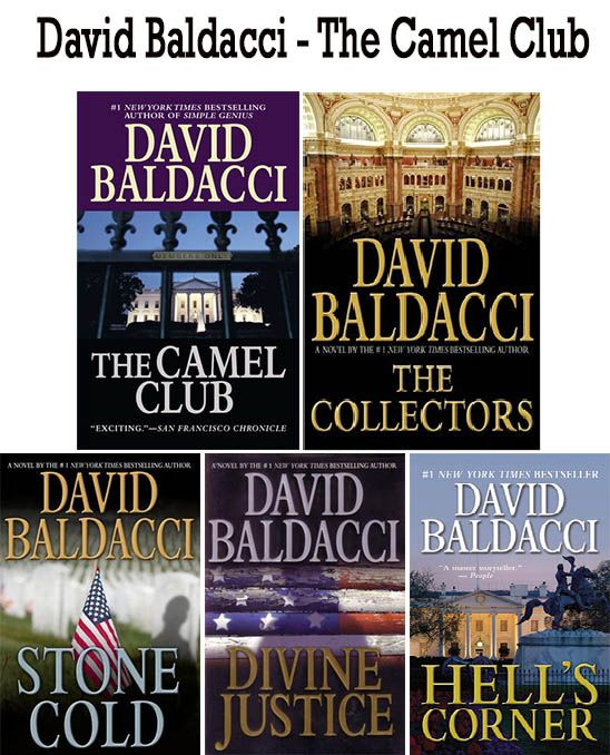 David Baldacci books The Camel Club series  http://www.mysterysequels.com/david-baldacci-books-in-order