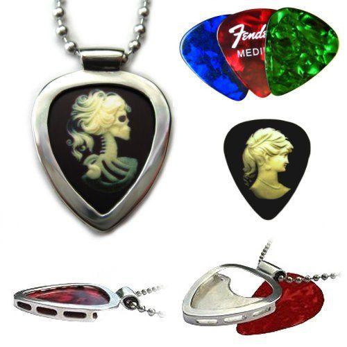 Plectre victorienne camée Goth & guitare PICKBAY pick titulaire le cadeau Unique Collier pendentif médiators affichage comme colliers Art 1 000 à 1