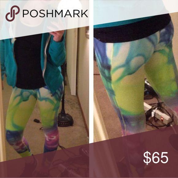 Nike running tights Tie dye Nike running tights Nike Pants Track Pants & Joggers