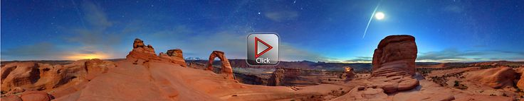 Delicate Arch At Night - Arches National Park- Utah 360 degree panorama This site has several 360 degree panoramas - how do they do this?  Amazing!
