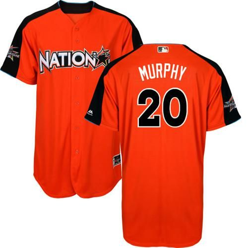 nationals 20 daniel murphy orange 2017 all star national league stitched mlb jersey