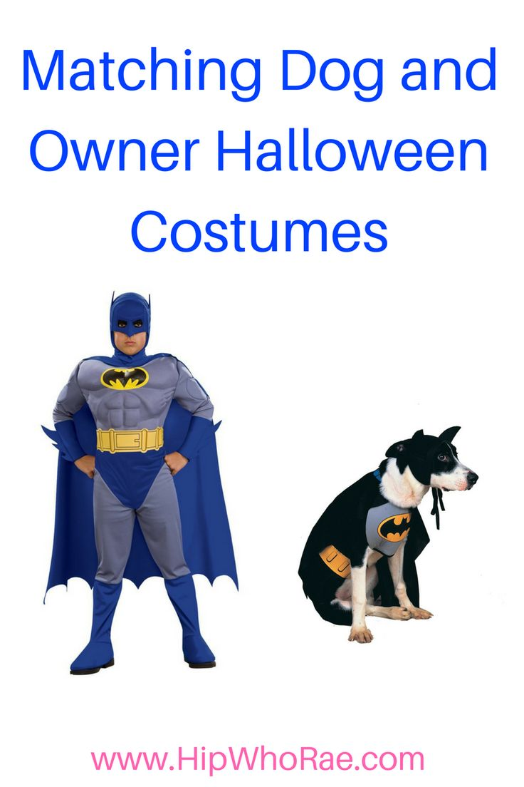 Halloween is such a fun time to dress up why not get your dog a have matching costumes