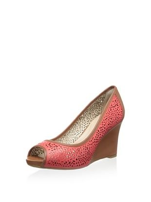 51% OFF Rockport Women's Seven 7 Laser Wedge Pump (Poppy Red)