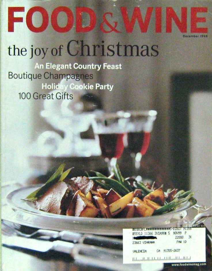 The Joy Of Christmas Recipes Food Wine Cooking Magazine December 1998