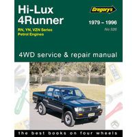 Toyota Hilux 2WD/4WD Petrol  Workshop Repair Manual 1979-1996 with MPN GAP05526