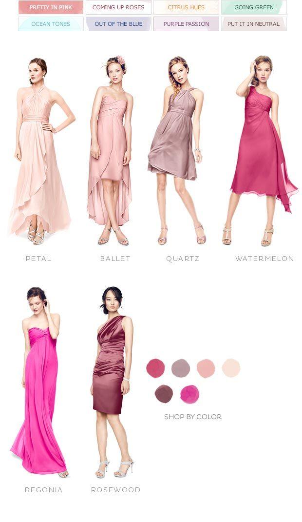 Color Palettes Bridesmaid Dresses By Color Palette