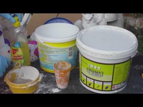 Beton giessen - DIY - Knetbeton - Das Rezept !!! Variante 1 - YouTube