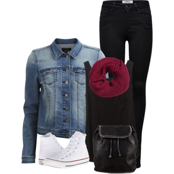 Classy in Converse by ginga1203 on Polyvore featuring polyvore, fashion, style, VILA, ONLY, Converse, STELLA McCARTNEY, H&M and clothing
