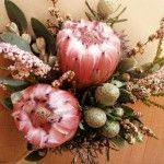 Rustic Wedding Bouquet: Proteas and native blooms