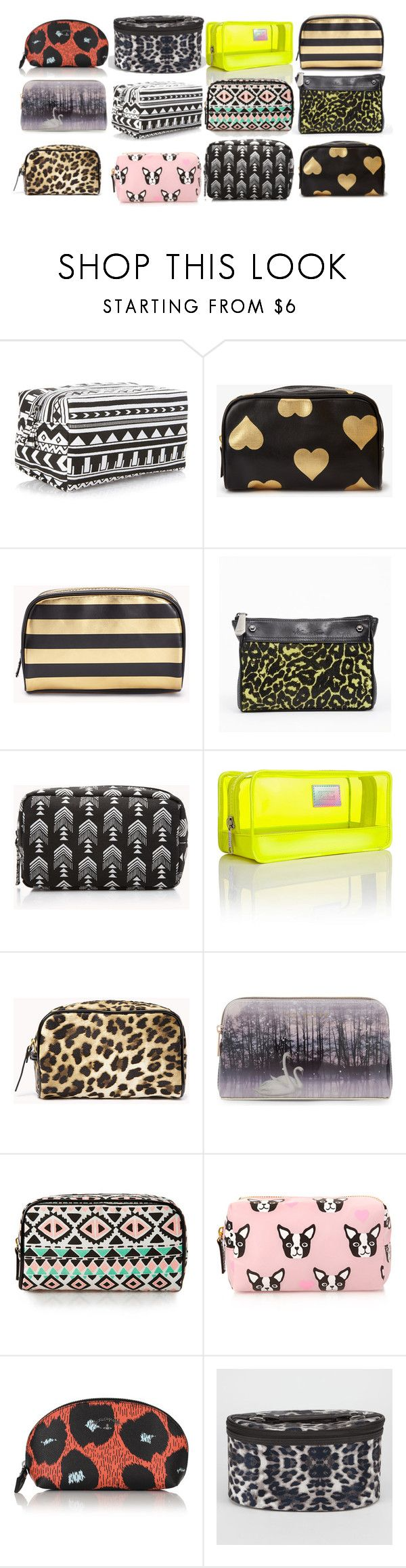 Aria Montgomery inspired makeup bags by xzozebo on Polyvore featuring Kenneth Cole, Victoria's Secret, Forever 21, Ted Baker and Vivienne Westwood